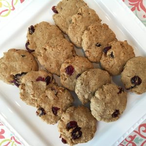 Peanut Butter Oatmeal Cranberry Cookie