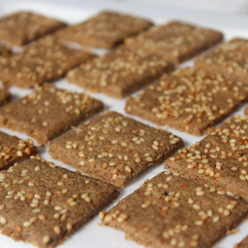 Savory Tahini Crackers